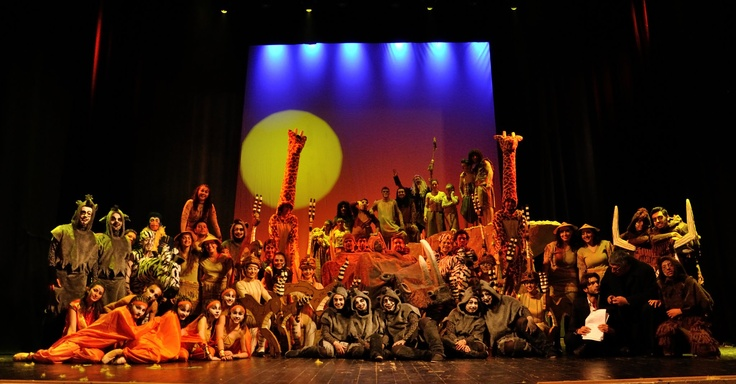 The Cast Of Award Winning Broadway Musical The Lion King   (great show, but enjoyed Beauty and the Beast more)