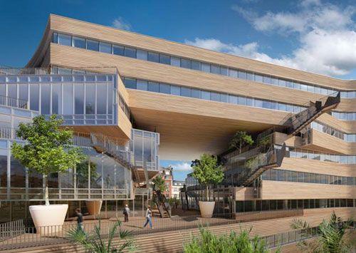 počet nápadů na téma office building architecture na pinterestu