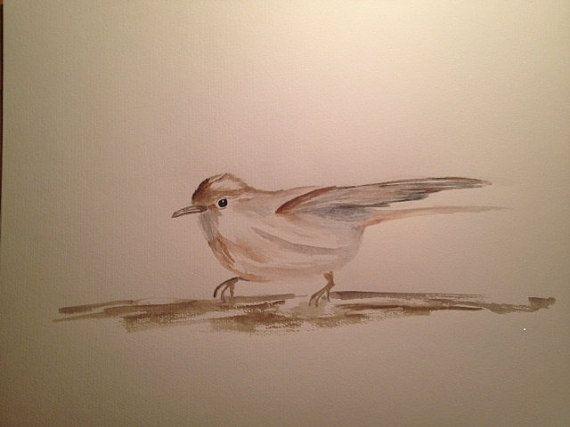 Original Watercolour Painting - garden Warbler