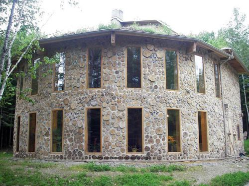Best 25 cordwood homes ideas on pinterest wooden house for Half round buildings