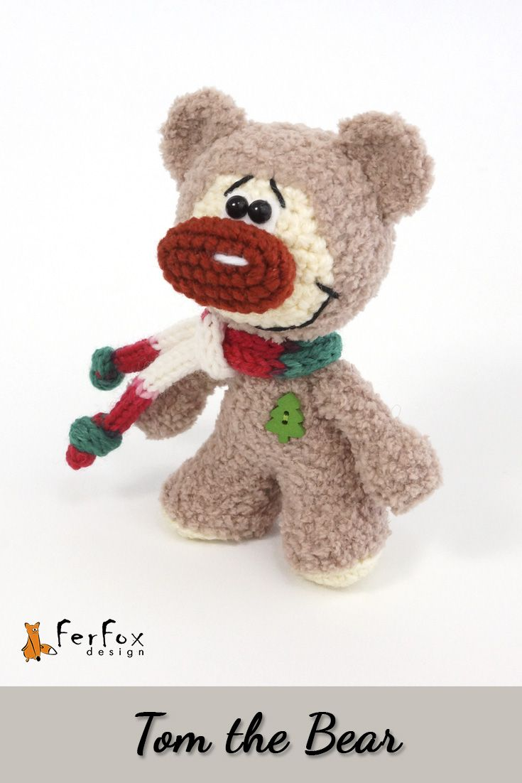 It's Tom the Bear by FerFoxDesign.This plush bear will be perfect Christmas gift, stocking filler or Christmas decor for your home! #christmas #giftideas #ferfoxdesign