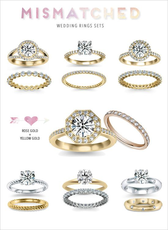 Engagement And Wedding Ring Sets Gold