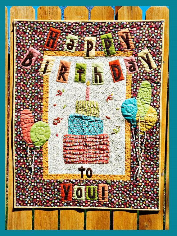 13 Best Quilts Birthday Images On Pinterest Anniversary