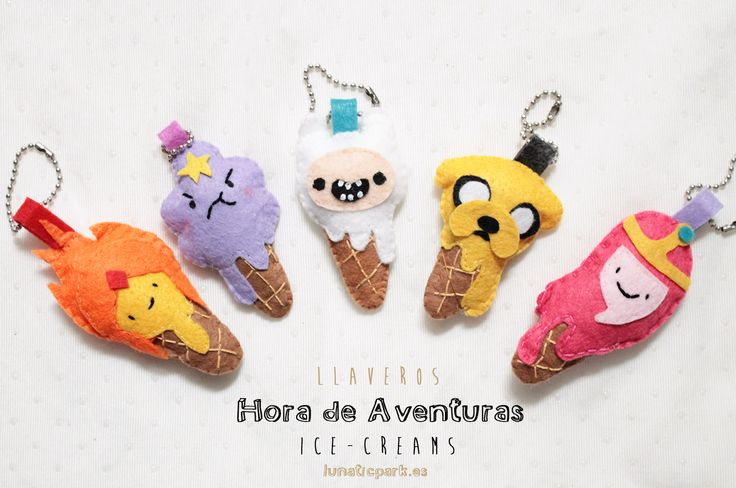 adventure time felt keychains