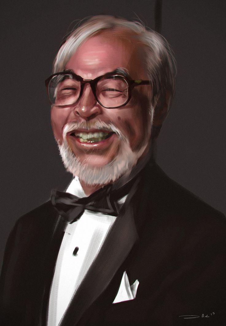 Hayao Miyazaki, Jose Alejandro  Cardona on ArtStation at https://www.artstation.com/artwork/hayao-miyazaki-c1bfa7d4-e3f9-48bc-bd02-4aeaecf73c74
