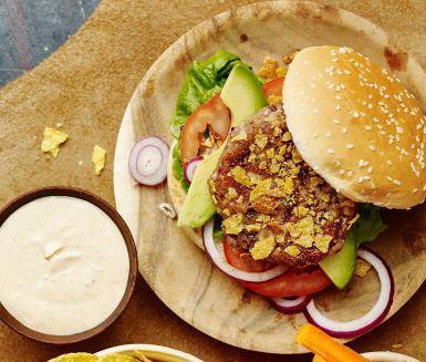 Dessa vegetarisk tacoburgare är ett gott och spännande alternativ till…