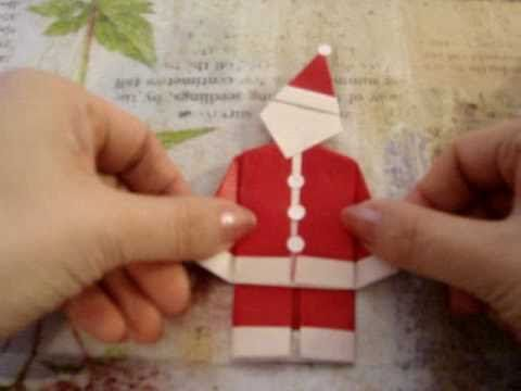 ▶ How to make an Origami Father Christmas, Santa Claus (Easy one) - YouTube