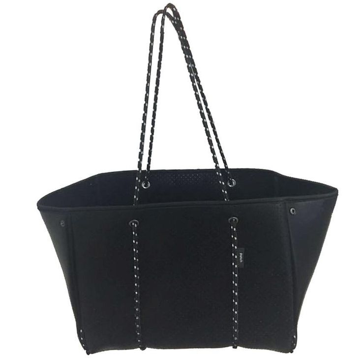 Punch | Neoprene Tote Bag in Metallic Black
