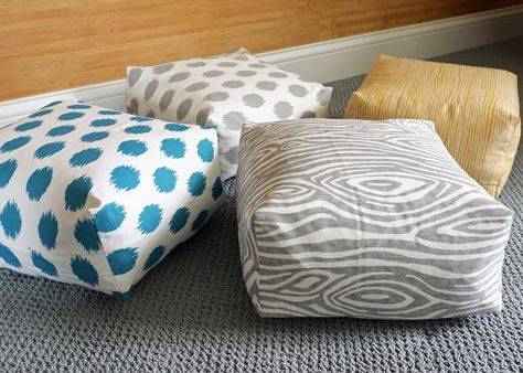 DIY Boxy Floor Cushion Tutorial {VIDEO} it looks so easy and cute!
