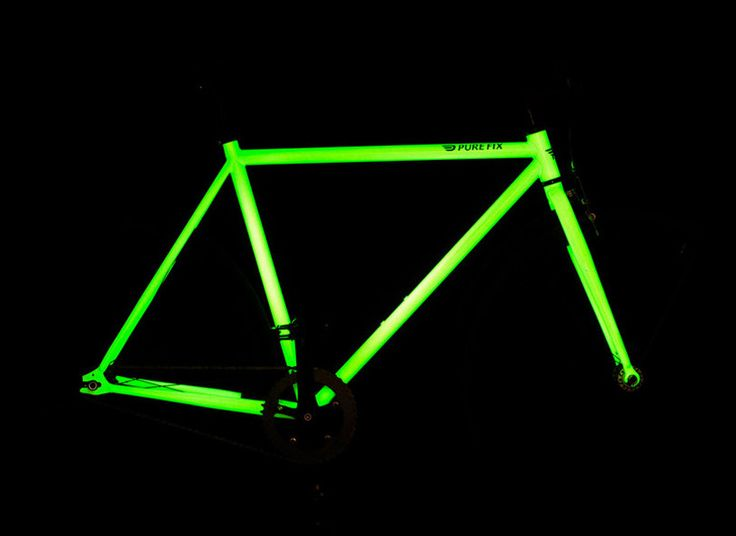 solar activated glow in the dark bicycle by pure fix cycles