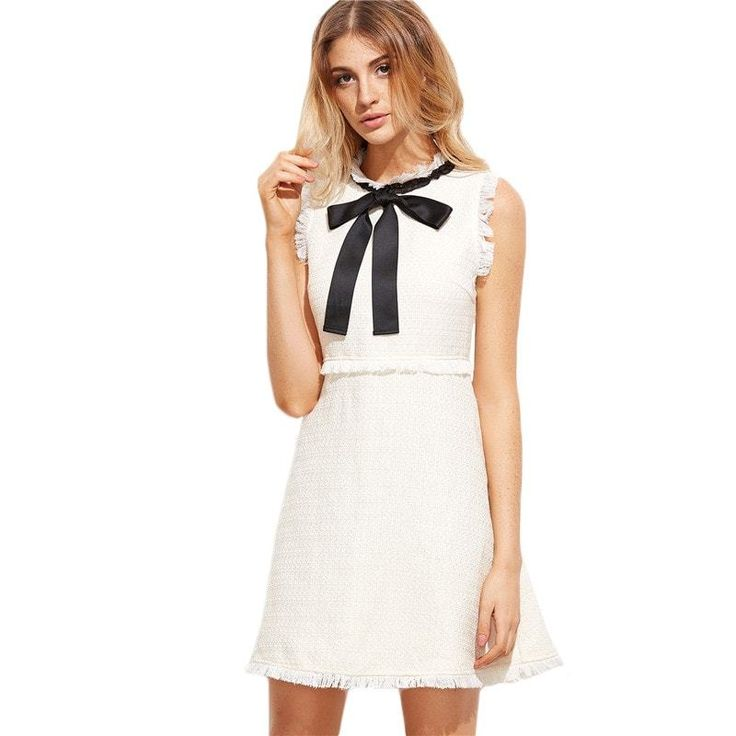 Bow Tie Neck Dress