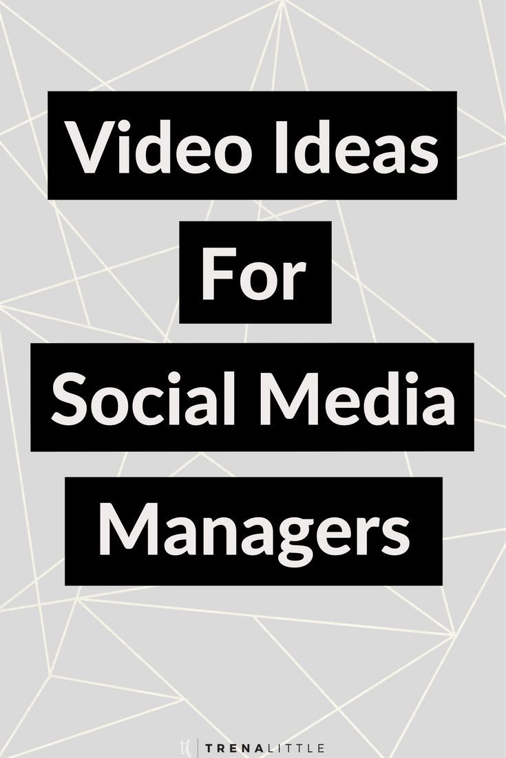 Video Ideas for Social Media Managers — Trena Little | Video Content Strategist  The best way to grow your authority and audience is to create video content!  But what should you talk about?  In this video I'm providing social media managers 3 video ideas to get started with today!  Click the pin to get the 3 video ideas!