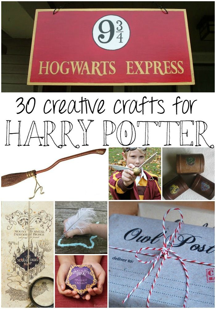 30 DIY Harry Potter Crafts to appeal to all of your house loyalties.