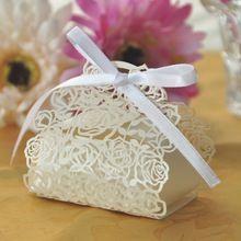 20 pcslote souvenirs de mariage chine laser cut rose fleurs de mariage bonbons bote - Boite A Gateau Mariage Orientale