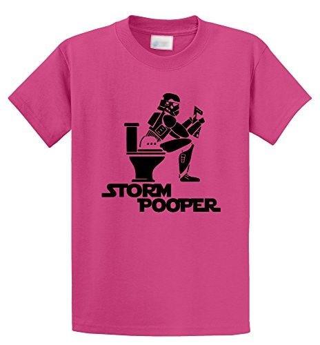 Comical Shirt Men's Storm Pooper Funny Star Movie Parody Shirt Pink 5XL, Size: XXXXX-Large