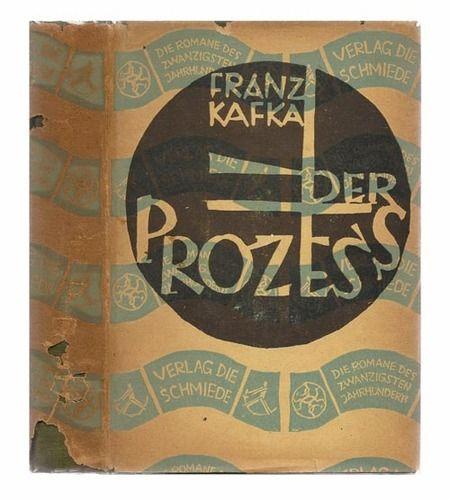 Franz Kafka, Der Prozess (The Trial), Berlin: Verlag Die Schmiede, 1925. Jacket by George (then Georg) Salter.