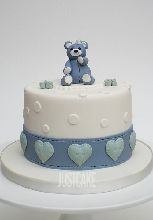 Teddy and Hearts Birthday Cake by Just Cake in Norfolk