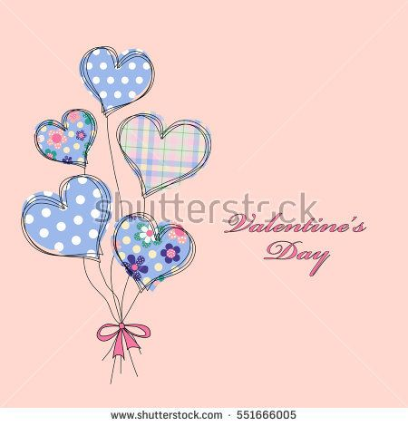 Card with a bouquet of the stylized abstract hearts and place for congratulatory text. Modern background for wedding invitation, card for Valentine's Day, birthday, mother day, card about love. EPS10
