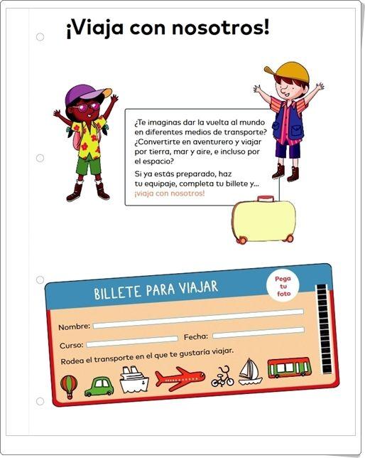 """""""¡Viaja con nosotros!"""" (Proyecto de Ciencias Sociales de 1º de Primaria)"""