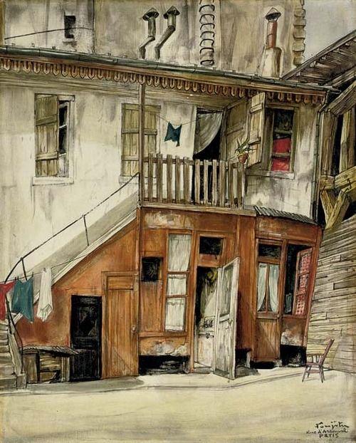 Rue d'Arsonval, Paris, Fujita Tsuguharu (Léonard Foujita) / 藤田嗣治. Japanese. (1886 - 1968)
