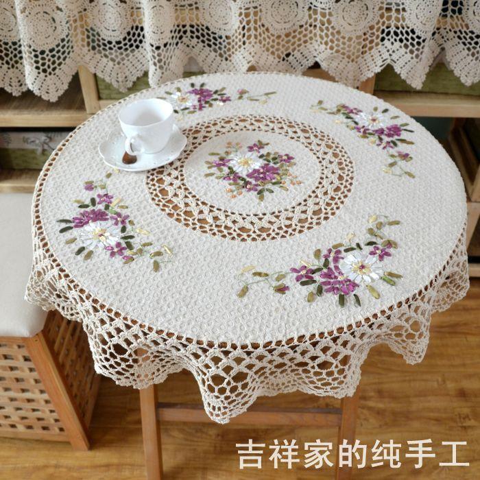 M s de 1000 ideas sobre cubierta de mesa de ganchillo en - Manteles mesas grandes ...