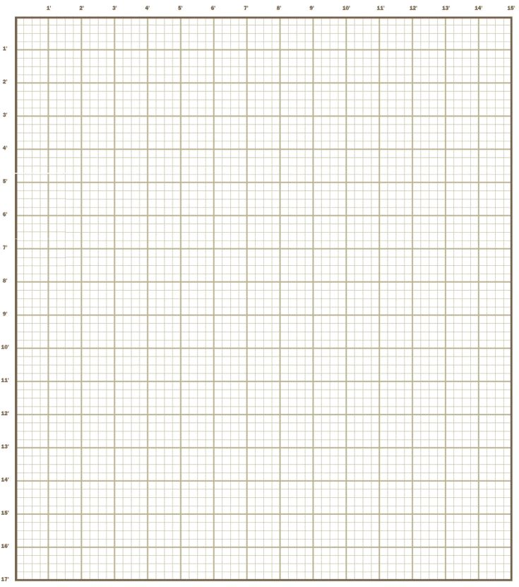 Grid Paper For Kitchen Remodel Floor Plan