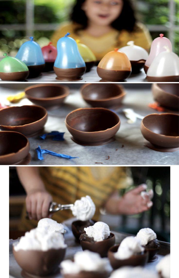 """Sencilla forma de cómo hacer """"Tazas de chocolate rellenas"""" para tus fiestas paso a paso."""