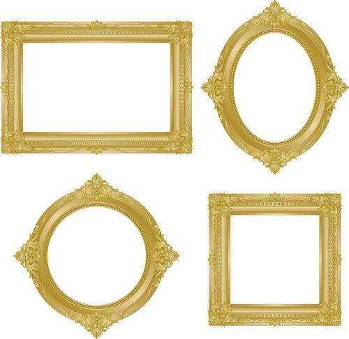 4b347d83597c Set of antique gold photo frame elements vector Free vector in Encapsulated PostScript  eps ( .eps ) vector illustration graphic art design format format for ...