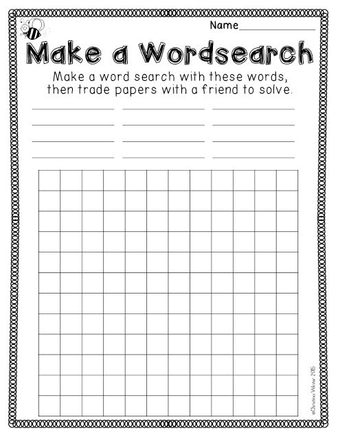 Mrs. Winter's Bliss: Spelling Activities {a Freebie}