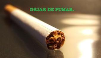 Primero que nada debo dejar de fumar.