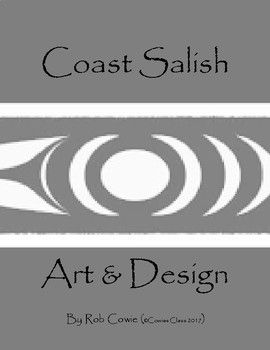 Coast Salish Art and Design is very distinct from Northwest Coast 'Formline' design. Coast Salish art uses three main design elements (Circle, cresent, and trigon) to create an image. Each design element has a symbolic relationship to the culture. This lesson includes design tracers and 15 blank animal outlines for