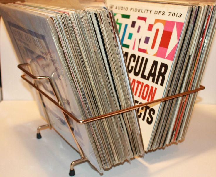 awesome flipstyle midcentury record rack