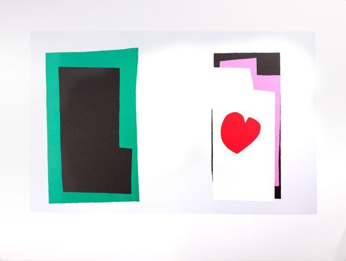 """Henri Matisse (na) - Le Coeur (het hart)  Henri Matisse (na) - Le Coeur (het hart)Lithografie op BFK Rives papierPlaat ondertekend-uit de editie van 200.Copyright van de erfopvolging van Matisse & de uitgeverAfmetingen 79 x 58 cmOns bedrijf Artvalue.com en haar dochteronderneming Art-lithografieën gedrukt en gepubliceerd dat lithografie in 2007 ter gelegenheid van de 60ste verjaardag van de oorspronkelijke 1947 """"JAZZ"""" boek waarvan onze portfolio de facsimile is. Het werd in onze atelier van…"""