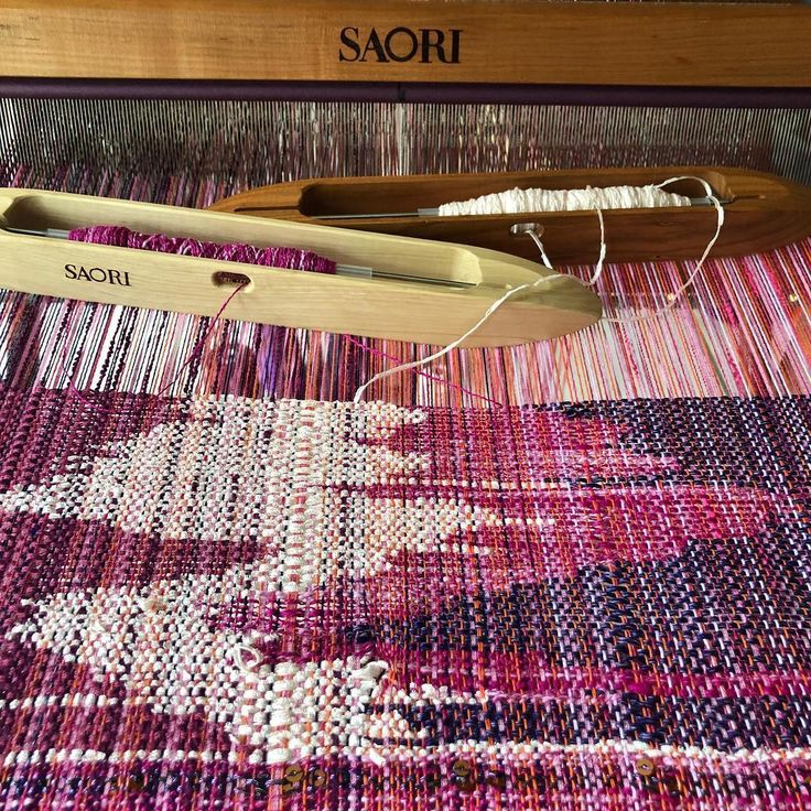 4-color clasped weft today. Silk weft, cotton warp…