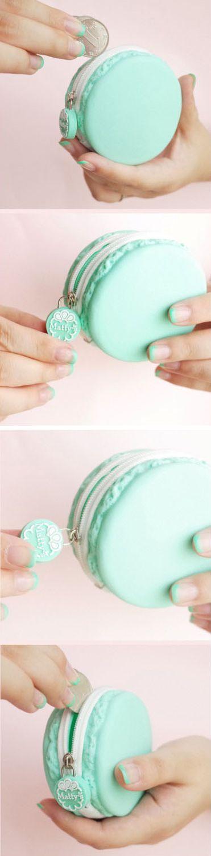 Coin purse / Macaroon / Matty's / Mint / Sweet