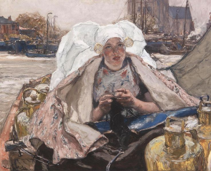 Hans von Bartels (1856-1913) - 'Lattivendola' (Milkwoman) of Dordrecht.