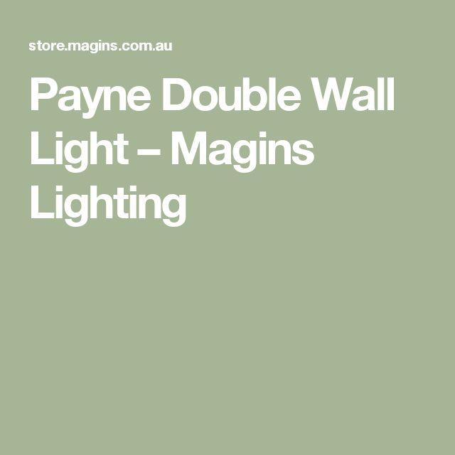Payne Double Wall Light – Magins Lighting