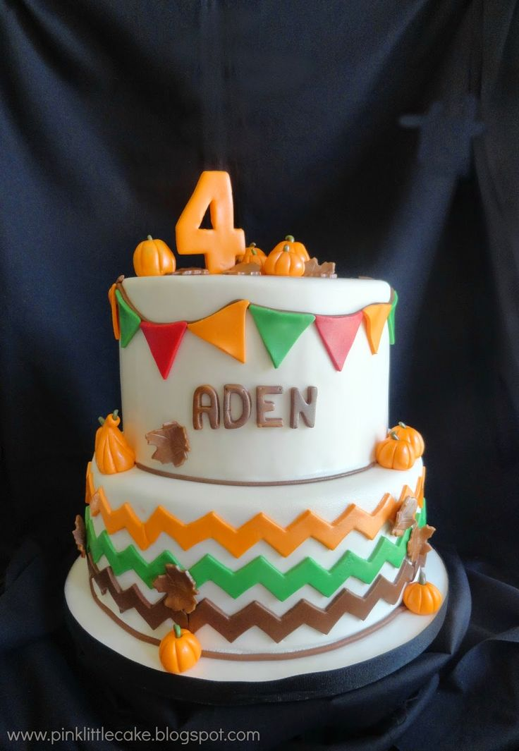 Pink Little Cake: Pumpkin Patch theme Birthday Cake