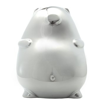 BB Modern Piggy Bank. When it comes to piggy banks, size matters. B.B—the bigger the better—hence the name of this rotund little pig. $45.00