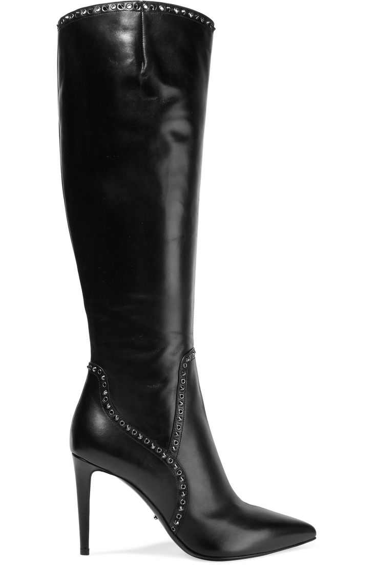 SERGIO ROSSI ANGIE STUDDED LEATHER KNEE BOOTS GBP405 http://www.theoutnet.com/product/810471