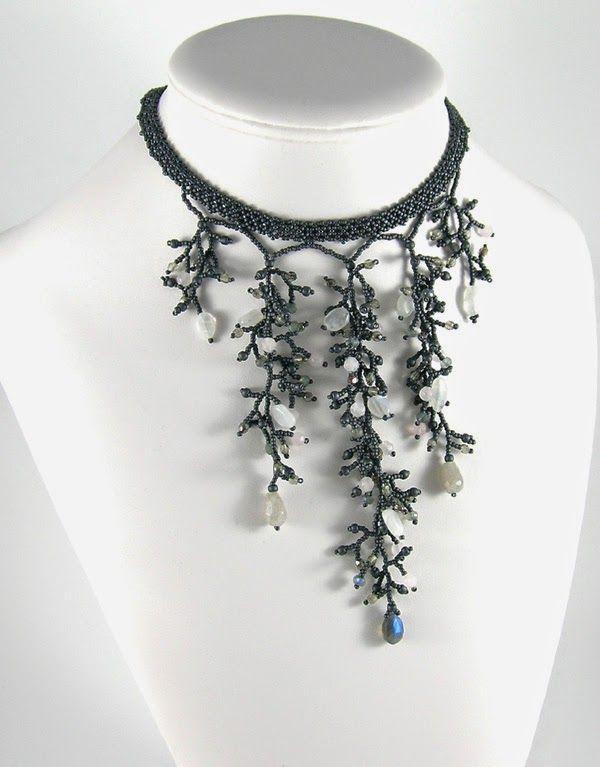 http://tauriel-bizuteriakoralikowa.blogspot.com/Tauriel Tauriel-design Custom Order, #beadwork, #necklace