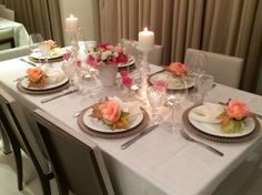 Mesa do dia: Para um jantar, romantismo