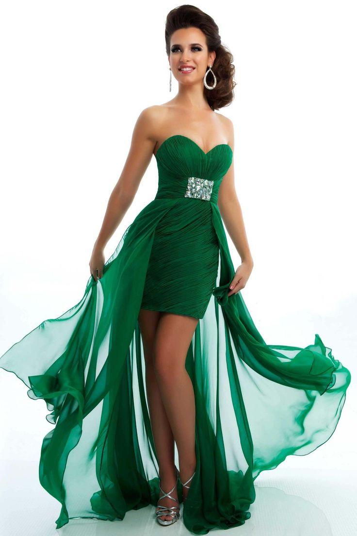 247 best Vestidos de fiesta verdes images on Pinterest ...