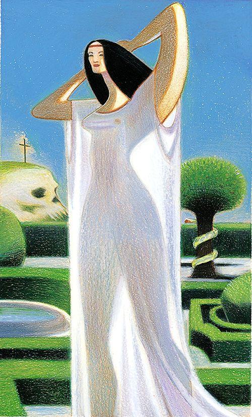 The Empress (Knowledge) - Dante Tarot by Andrea Serio, Giordano Berti