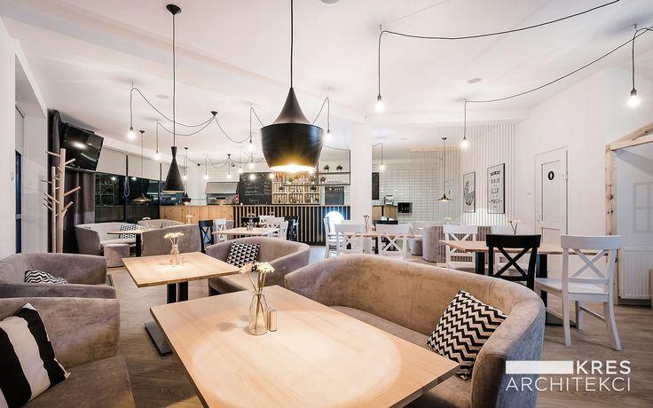 Interior design of a Grande Pizza Restaurant in Tomaszow Lubelski, Poland by KRES ARCHITEKCI