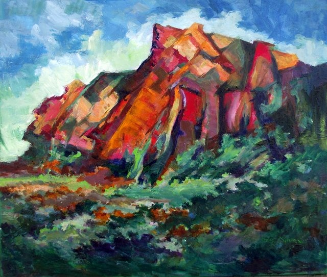 Karoo-scapes - Ina Marx - Attentive Red Mountain