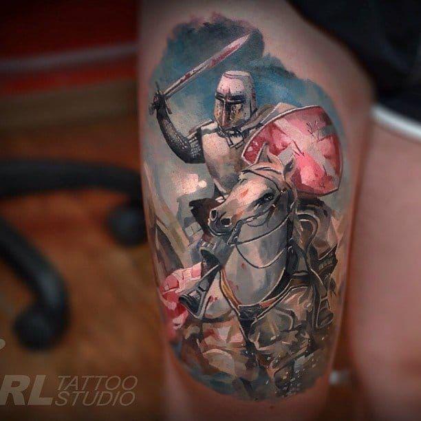 Best 25+ Knight Tattoo Ideas On Pinterest