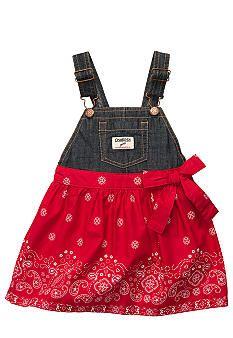 OshKosh B'gosh® Bandana Print Jumper Dress Toddler Girls
