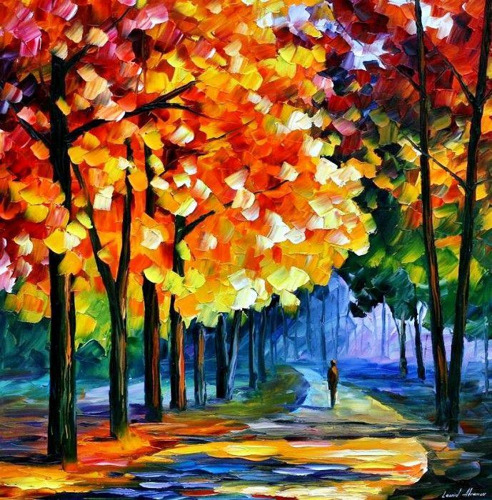 фото рисунок осени красками города отличаются своему