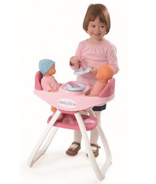 SMOBY 24218 Baby Nurse jedálenská stolička pre dvojčatá